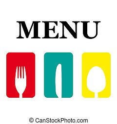 logotipo, menú