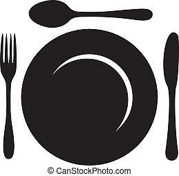 logotipo, menu restaurante