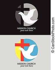 logotipo, missão, igreja