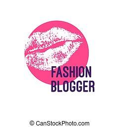 logotipo, moda, blogger