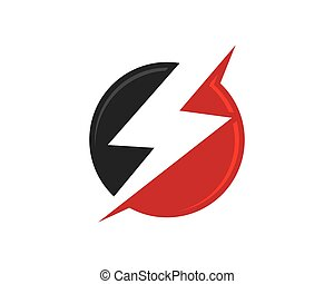 logotipo, modelo, relampago