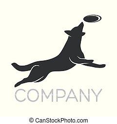 logotipo, modernos, cão