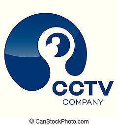 logotipo, modernos, cctv