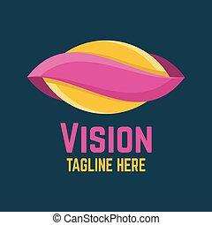 logotipo, modernos, visão