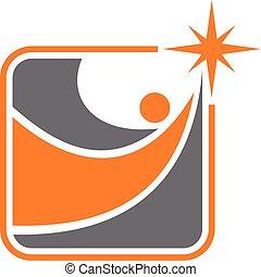 logotipo, modo, successo