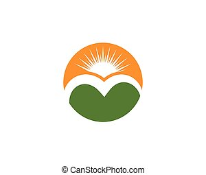 logotipo, montagna, icona, affari