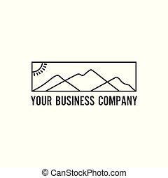 logotipo, montagna, minimalista