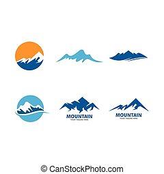 logotipo, montagna