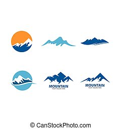 logotipo, montanha