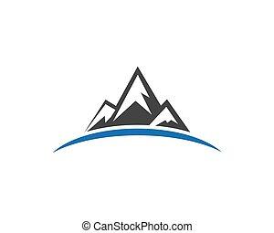 logotipo, montanhas