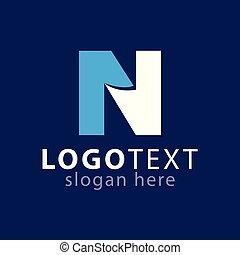 logotipo, n, vettore, lettera, iniziale