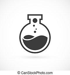 logotipo, nano, laboratorio, sagoma
