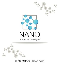 logotipo, nano