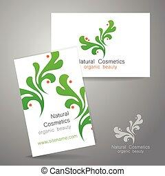 logotipo, naturale, cosmetica