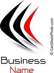 logotipo, negócio, 3d