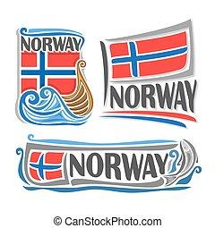 logotipo, noruega