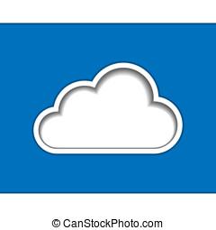 logotipo, nuvem, modelo, computando