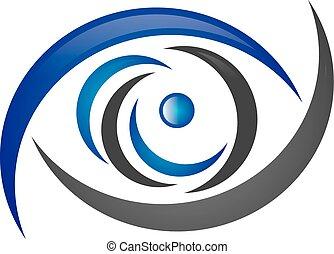 logotipo, occhio