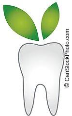 logotipo, odontólogo