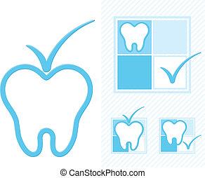 logotipo, odontoiatria
