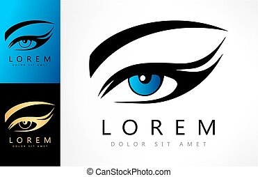 logotipo, olho mulher