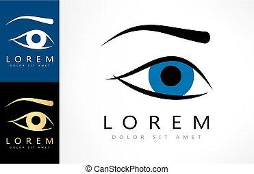 logotipo, olho