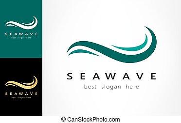logotipo, onda