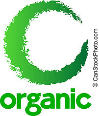 logotipo, orgânica
