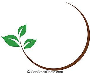 logotipo, organico