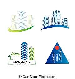 logotipo, orizzonte, progetto serie, sagoma