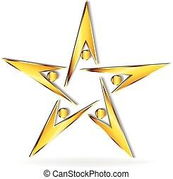 logotipo, oro, squadra