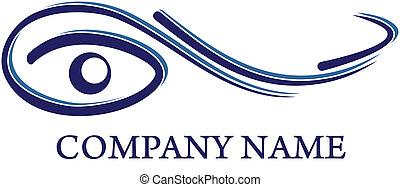 logotipo, ottico, -