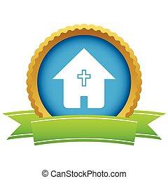 logotipo, Ouro, igreja