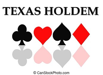 logotipo, póker, holdem, tejas