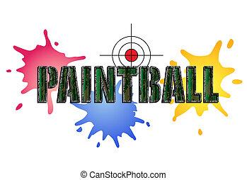 logotipo, paintball