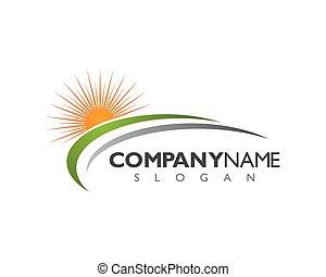 logotipo, paisagem, modelo