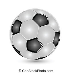 logotipo, palla calcio, icona