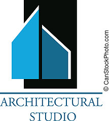 logotipo, para, arquitectónico, compañía