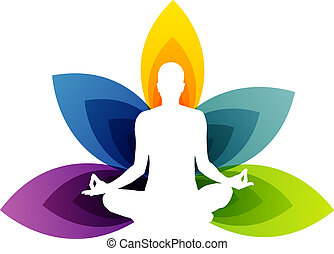logotipo, para, ioga