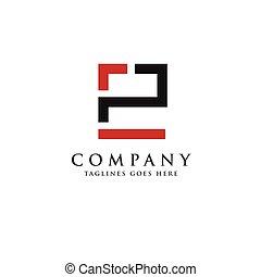 logotipo, pe, ep, letra