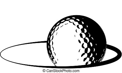 logotipo, pelota, golf