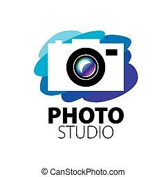 logotipo, per, studio foto