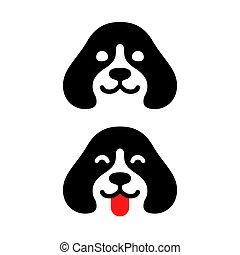 logotipo, perro, mínimo