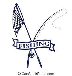 logotipo, pesca