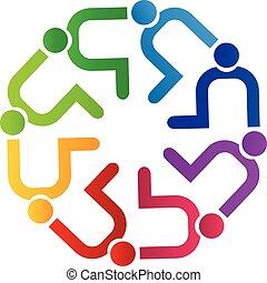 logotipo, pessoas, diversidade, trabalho equipe