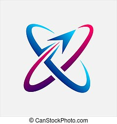 logotipo, pianeta, tecnologia