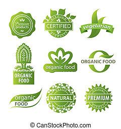 logotipo, pianta, ecologico
