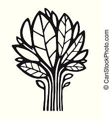 logotipo, pianta, vettore, albero, /