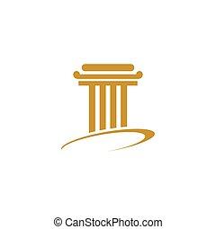 logotipo, pilar