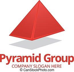 logotipo, piramide